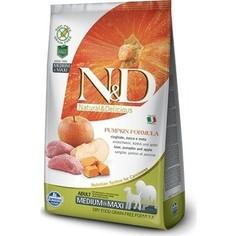 Сухой корм Farmina N&D Dog Medium&Maxi GF Pumpkin Boar & Apple беззерновой с мясом кабана яблоком и тыквой для собак средних и крупных пород 12кг
