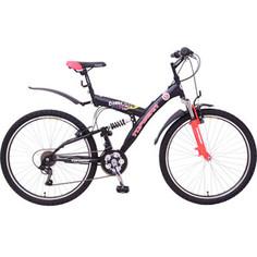 Top Gear Велосипед 26 Neon 220, 18 скоростей, матовые цвета черный/красный (ВН26414)