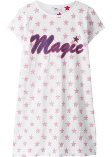 Ночная рубашка (белый/ярко-розовый гибискус с рисунком) Bonprix