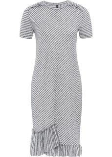 Платье из трикотажа (серый/белый в полоску) Bonprix