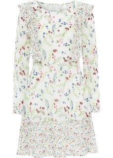 Платье из шифона (дымчато-мятный в цветочек) Bonprix