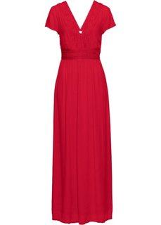 Макси-платье с кружевом (клубничный) Bonprix