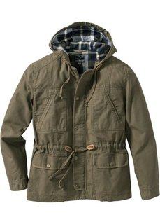 Куртка-парка Regular Fit (зеленый хаки) Bonprix