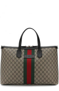 Дорожная сумка GG Supreme Web с плечевым ремнем Gucci