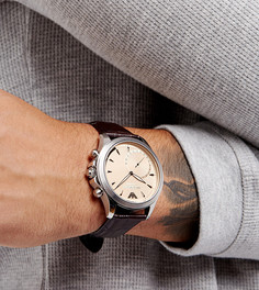 Гибридные смартчасы с коричневым ремешком Emporio Armani ART3014 - Коричневый