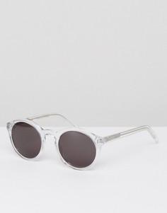 Круглые солнцезащитные очки в прозрачной оправе Monokel Eyewear Barstow - Очистить
