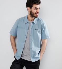 Рубашка в стиле милитари с короткими рукавами Nudie Jeans Co Svante - Синий