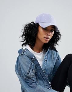 Синяя джинсовая кепка с вышивкой NY New Era 9Forty - Синий