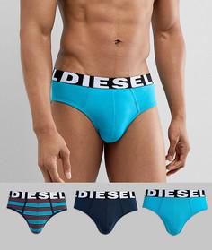 Набор трусов в полоску с логотипом (3 шт.) Diesel - Мульти
