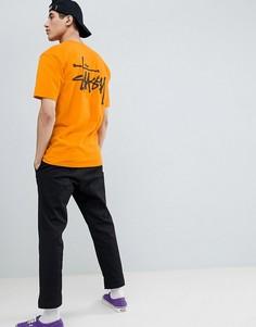 Оранжевая футболка с логотипом Stussy - Оранжевый
