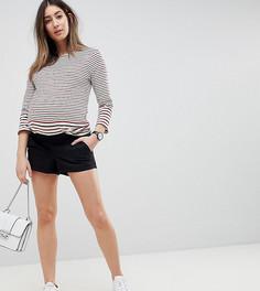 Черные шорты чиносы с посадкой под животом ASOS DESIGN Maternity - Черный