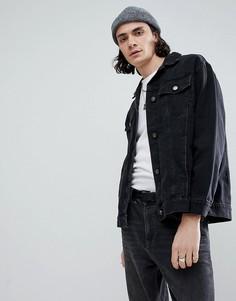 Черная джинсовая куртка Cheap Monday - Черный