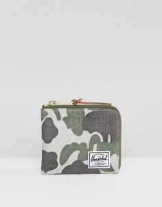 Бумажник с камуфляжным принтом и RFID-меткой Herschel Supply Co Johnny - Зеленый