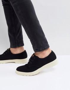 Черные туфли с 3 парами люверсов Dr Martens Delray - Черный