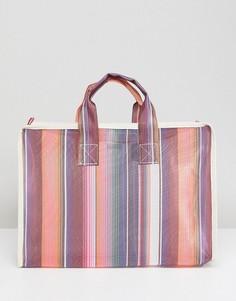 Сетчатая сумка-шоппер с узором ASOS - Мульти