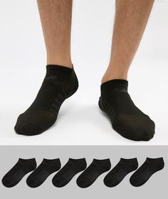 Набор из 6 пар черных носков-невидимок New Balance N4010-032-6EU BLK - Черный