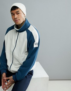 The North Face 1990 Staff Full Zip Fleece In Off White/Blue - Белый