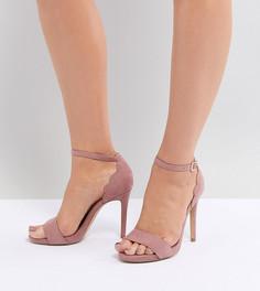Босоножки на высоком каблуке New Look Wide Fit - Розовый
