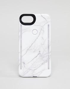 Чехол для iPhone 6/6S/7/8 с мраморным принтом LuMee - Мульти