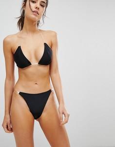 Плавки бикини с прозрачными ремешками Missguided - Черный