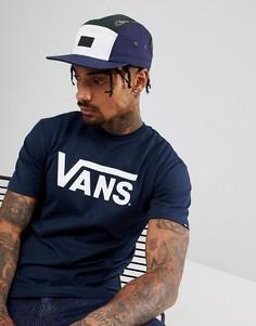 Синяя 5-панельная кепка Vans Davis V00UM2QGF - Синий