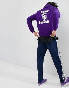 Худи фиолетового цвета с принтом Fairplay Sippin - Фиолетовый