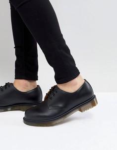 Черные туфли с 3 парами люверсов Dr Martens 1461 PW - Черный