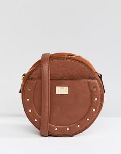 Круглая сумка через плечо New Look - Рыжий