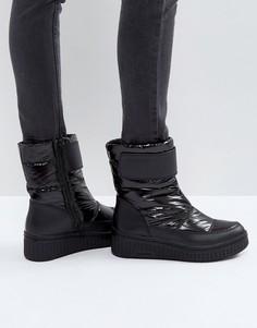 Черные стеганые ботинки Calvin Klein Jeans Leonie - Черный