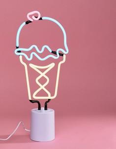 Неоновый светильник в виде мороженого Sunnylife - Мульти