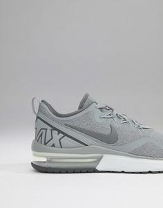 Серые кроссовки Nike Running Air Max Fury AA5739-004 - Серый