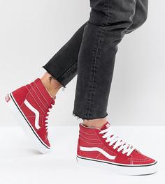 Красные высокие кроссовки Vans Sk8 - Красный