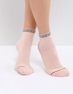 Розовые носки с отделкой с логотипом Vans - Розовый