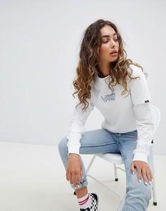 Белая двухслойная футболка с вышитым логотипом Vans - Белый