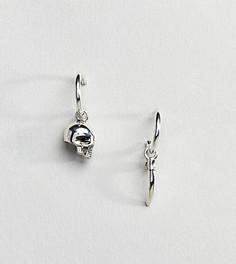 Серебряные серьги-кольца Reclaimed Vintage эксклюзивно для ASOS - Серебряный