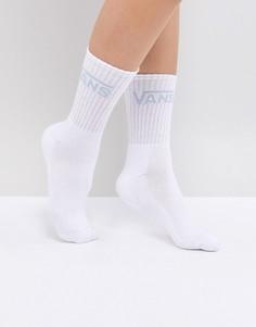 Носки с синим логотипом Vans - Белый
