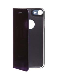 Аксессуар Чехол Zibelino Clear View для Apple iPhone 7 / 8 Purple ZCV-APL-7-PUR