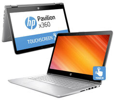Ноутбук HP Pavilion x360 14-ba022ur 1ZC91EA (Intel Core i7-7500U 2.7 GHz/8192Mb/1000Gb + 128Gb SSD/No ODD/nVidia GeForce 940MX 4096Mb/Wi-Fi/Cam/14.0/1920x1080/Touchscreen/DOS)