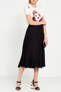 Босоножки с принтом и заклепками Dolce&;Gabbana