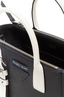 Черная кожаная сумка Concept Prada