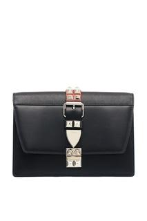 Черная кожаная сумка Elektra Prada