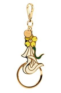 Брелок для ключей с цветком Prada
