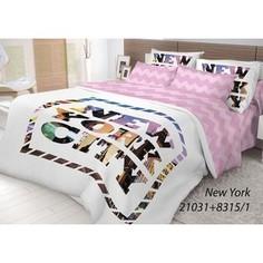 Комплект постельного белья Волшебная ночь Евро, ранфорс, New York с наволочками 50x70 (702184)