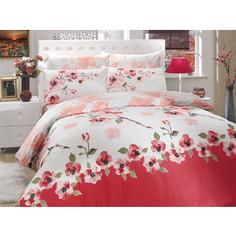 Комплект постельного белья Hobby home collection Евро, ранфорс, Rosalinda, розовый (1501000272)
