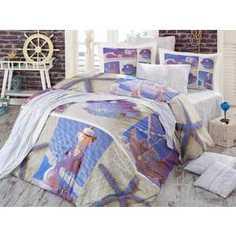 Комплект постельного белья Hobby home collection Евро, поплин, 3D Ocean, (1501000933)