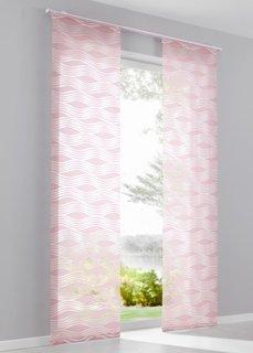 Японская штора Волны (1 шт.), Шина с лентой велкро (розовый) Bonprix