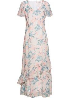 Платье с рисунком (песочно-бежевый/персиковый с рисунком) Bonprix