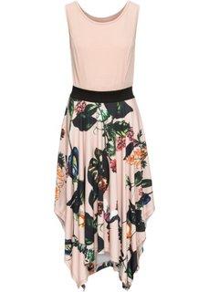 Платье с принтованной юбкой (розовое дерево) Bonprix