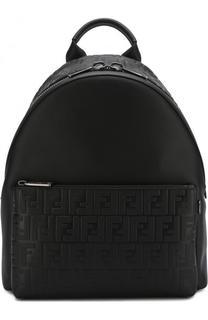 Кожаный рюкзак с фактурной отделкой Fendi