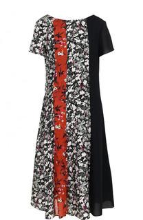 Приталенное платье-миди с принтом Acne Studios
